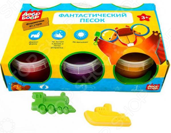 Набор для лепки из песка 1 Toy «Добр Бобр» с 1 формочкой