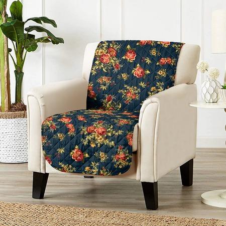 Купить Универсальная накидка «Уютный дом» на кресло. Цвет: синий