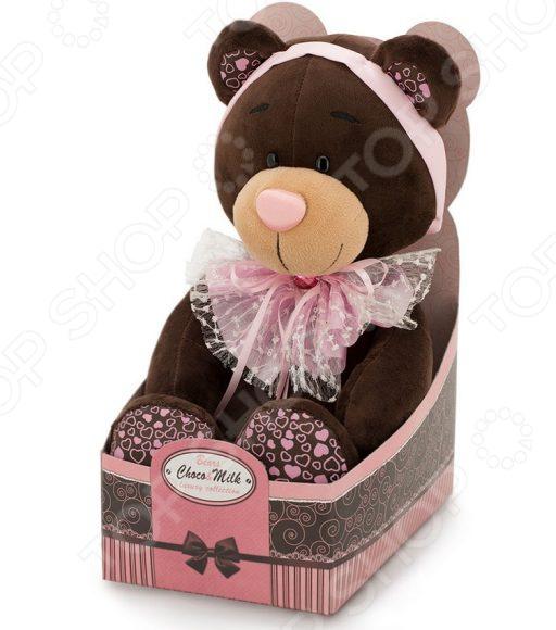 Интерактивная игрушка Orange Choco&Milk «Медведь. Розовый бант» мягкая игрушка choco
