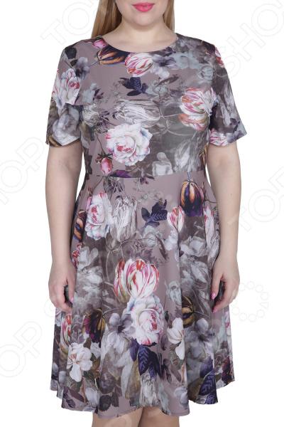 Платье ТРЕНД «Нежная особа». Цвет: бежевый платье тренд стильный силуэт цвет бордовый