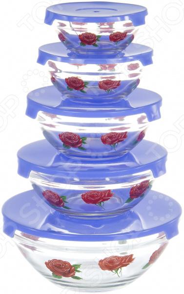 Набор салатников OlAff AX-5SB-B-01 набор салатников olaff с крышками 5 шт ax 5sb r 02
