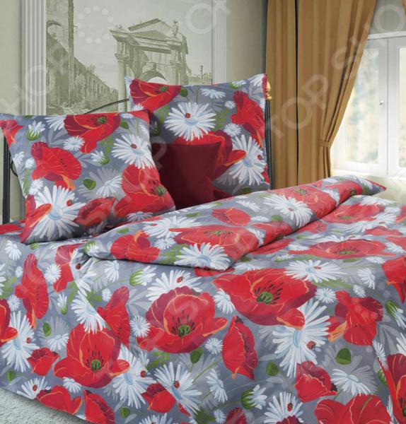 Комплект постельного белья DIANA P&W «Маки». 1,5-спальный