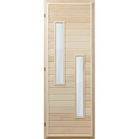 Купить Дверь со стеклопакетом Банные штучки «Узкие длинные прямоугольники» 32132