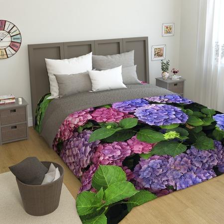 Купить Фотопокрывало стеганое Сирень «Гортензии цветы»