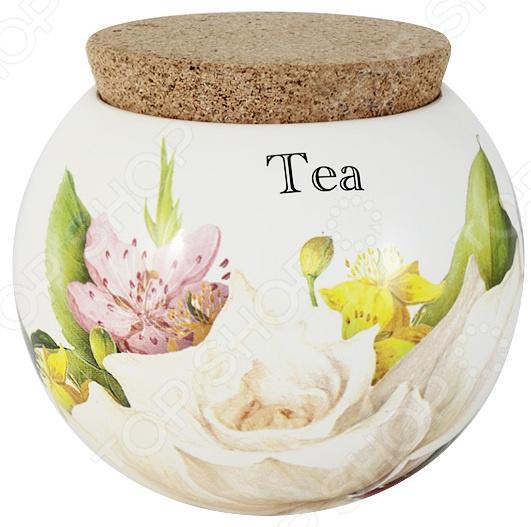 Банка для сыпучих продуктов Ceramiche Viva «Фреско. Чай» imari банка для сыпучих продуктов магнолия