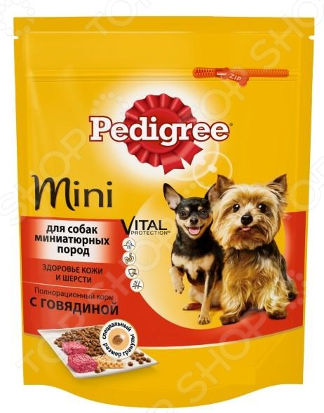 Корм сухой для собак миниатюрных пород Pedigree Mini Vital PROTECTION с говядиной