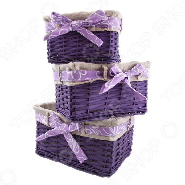 Набор плетеных корзин с вкладкой Miolla SL2. Количество предметов: 3 шт miolla 3