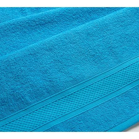 Купить Полотенце махровое Uztex с бордюром. Цвет: голубой