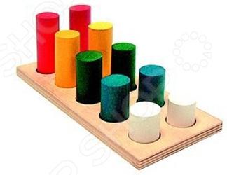 Игрушка развивающая RNToys «Цилиндры втыкалки 2 ряда»