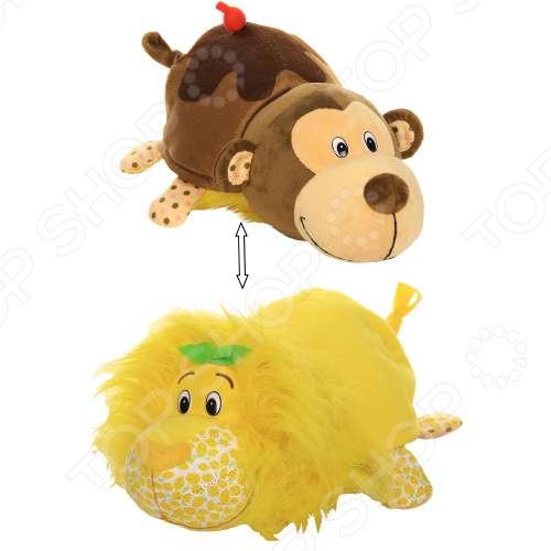 Мягкая игрушка ароматизированная 1 Toy большая «Вывернушка 2в1: Лев-Мартышка»