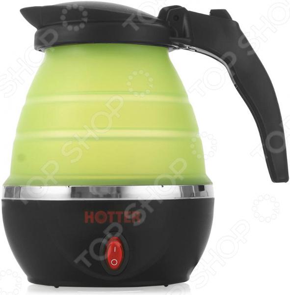 Чайник дорожный складной HOTTER HX-010 флексика пазл для малышей геометрия цвет основы красный