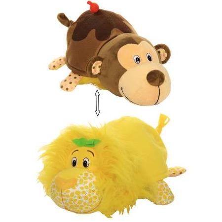 Купить Мягкая игрушка ароматизированная 1 Toy большая «Вывернушка 2в1: Лев-Мартышка»