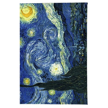 Купить Обложка для паспорта кожаная Mitya Veselkov «Ван Гог. Звездная ночь»
