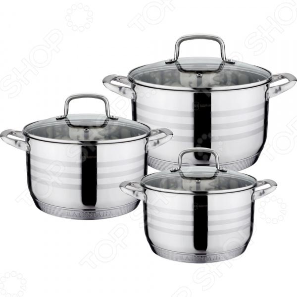 Набор кастрюль Rainstahl 1335-06RS\CW набор посуды rainstahl 6 предметов 1335 06rs cw