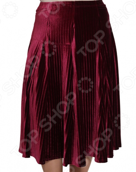 Юбка Pretty Woman «Нежный бархат». Цвет: бордовый