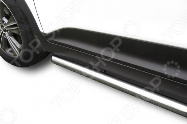 Защита штатных порогов Arbori труба для Hyundai Creta 4WD, 2016 комплект защиты штатных порогов arbori luxe black алюминиевый профиль 1700 для hyundai creta 4wd 2016