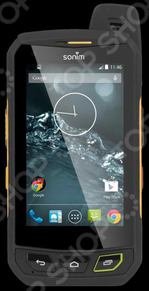 Смартфон защищенный Sonim XP7 усовершенствованное устройство, отличающееся невероятной прочностью. Гаджет сочетает в себе самые новейшие технологии и обладает уникальными качествами и характеристиками, которыми ни обладают привычные для нас смартфоны. В частности, производители Sonim разработали сенсорный экран, который реагирует на прикосновения пальцев через мокрые и грязные перчатки. А качество изображения остается на высоте даже под прямыми солнечными лучами. Словом, этот смартфон для тех пользователей, которые не ограничивают свою жизнь только офисом и прогулками по городу. Корпус смартфона Sonim XP7 полностью водонепроницаем, он выдерживает погружение в воду на глубину 2-х метров в течение 30 минут, не говоря уже о защите от пыли, грязи, различных мельчайших частиц и пр. Смартфон устойчив к повышенным температурам, различным механическим воздействиям. Система защиты экрана Corning Gorilla Glass выдержит достаточно мощные удары, а мощный аккумулятор емкостью 4800 мАч точно не подведет вас в самый нужный момент. Гаджет может похвастаться громким динамиком и системой активного шумоподавления. В вопросе внутреннего содержания смартфон Sonim XP7 также не уступает многим другим. Это сверхсовременное и продвинутое устройство, обеспечивающее пользователю высокую эффективность работы, широкие возможности использования всех необходимых приложений. Камера в 8Мп позволит вам запечатлеть лучшие моменты жизни, важные события и все то, что вы посчитаете нужным сохранить. Особенно, если то позволяет встроенная память в размере 16Гб собирайте любую нужную информацию и не волнуйтесь об ее сохранности. Находясь в любых природных условиях, даже самых экстремальных, будьте на связи с теми, кто важен. Смартфон оборудован системами позиционирования GPS и ГЛОНАСС, а также профессиональной безлимитной рацией Push-to-talk.
