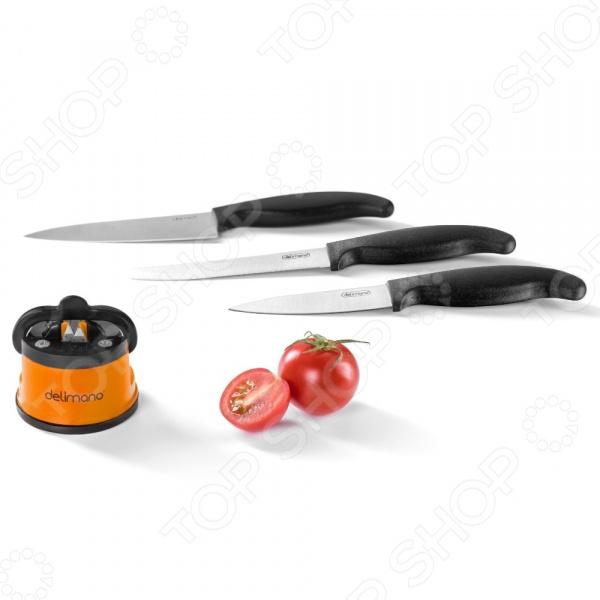 Ножеточка Delimano «Брава» и набор из 3-х ножей