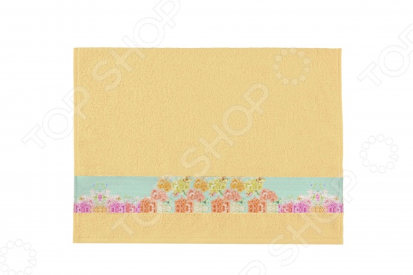 Полотенце махровое Aquarelle «Фотобордюр: Цветы 3»