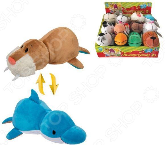 Мягкая игрушка 1 Toy «Вывернушка 2в1: Морж-Дельфин»