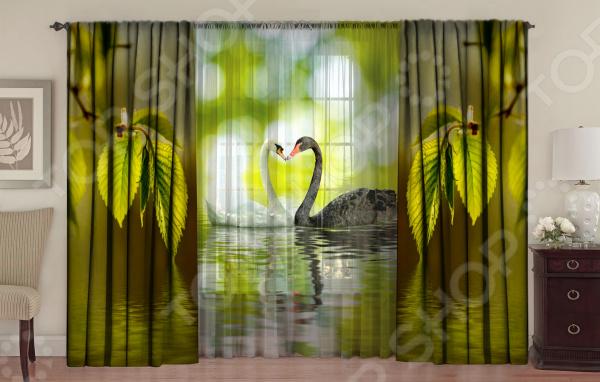 Комплект фотоштор с тюлем ТамиТекс «Верность любви» 1