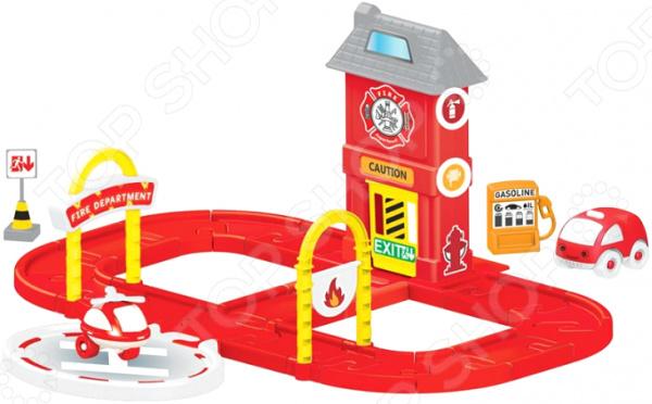 Набор игровой для мальчика Dolu «Пожарная станция с круговой дорогой»