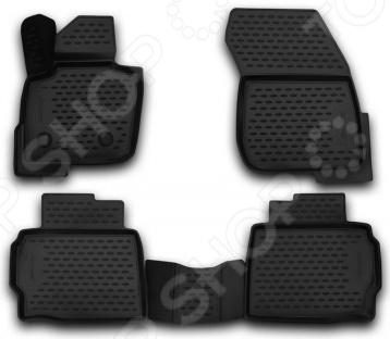 Комплект 3D ковриков в салон автомобиля Novline-Autofamily Ford Mondeo 2015 автомобильные коврики novline autofamily коврики 3d в салон ford mondeo