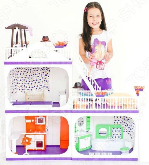 «Конфетти» С- 1330 Кукольный дом с аксессуарами Огонек «Конфетти» С-1330