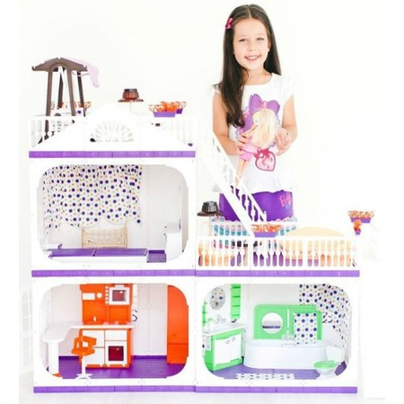 Купить Кукольный дом с аксессуарами Огонек «Конфетти» С-1330