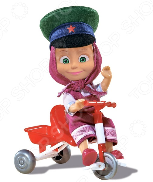Кукла с аксессуарами Simba «Маша в фуражке с велосипедом»