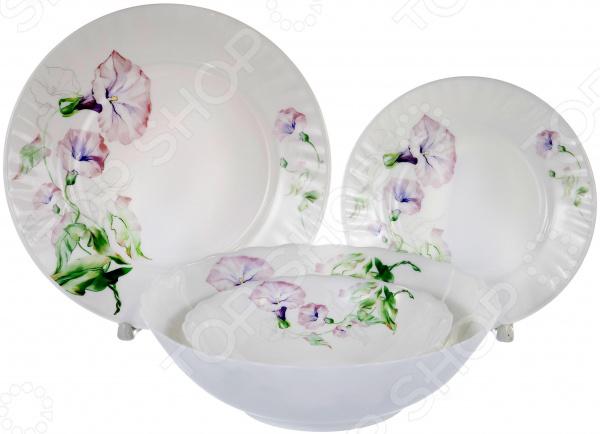 Набор столовой посуды OlAff «Скарлет». Количество предметов: 19 набор столовой посуды olaff эстелла