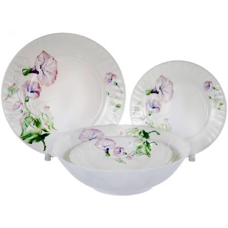 Купить Набор столовой посуды OlAff «Скарлет». Количество предметов: 19