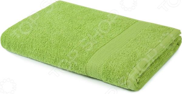 Полотенце махровое Aquarelle «Настроение». Цвет: травяной