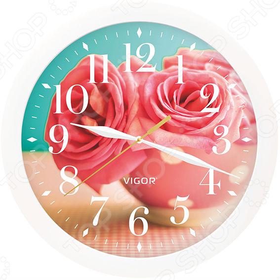 Часы настенные Vigor Д-29 «Розовые розы» часы vigor д 29 розовые розы