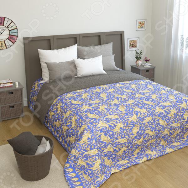 Покрывало стеганое Сирень «Орана» желтое покрывало на кровать
