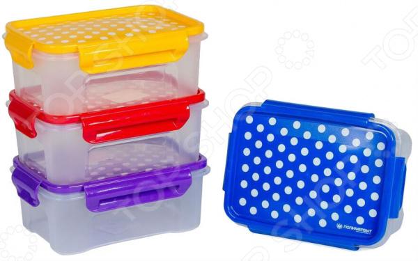 Набор контейнеров для СВЧ Полимербыт SGHPBKP109 «Горох»