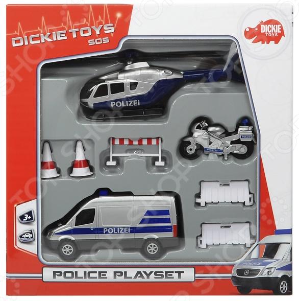 Набор машинок игрушечных Dickie «Полицейская техника» набор машинок игрушечных dickie 3745000