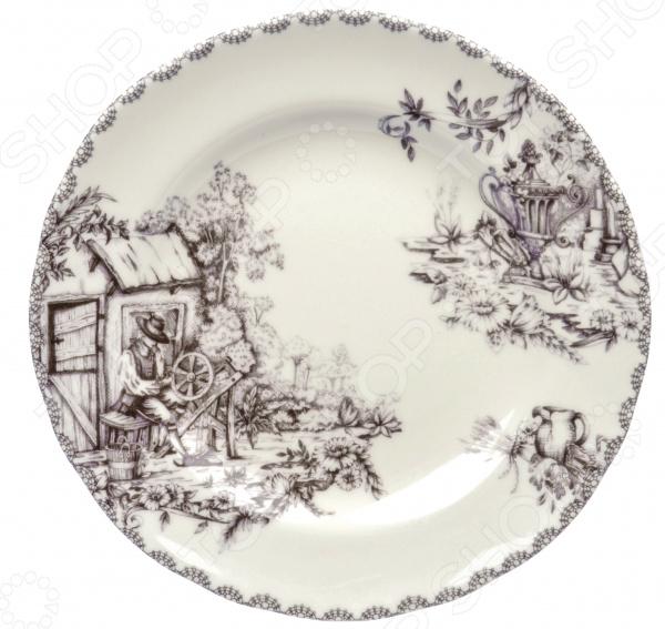 Тарелка десертная Utana «Инглиш принтс Флинт»