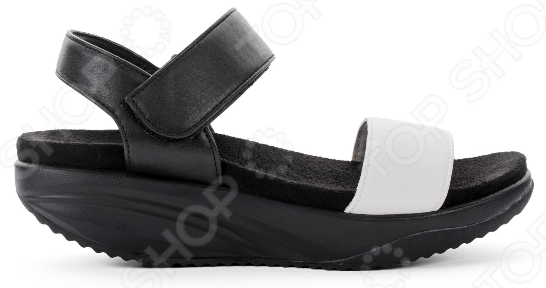 Сандалии дышащие женские Walkmaxx 3.0. Цвет: черный, белый 1