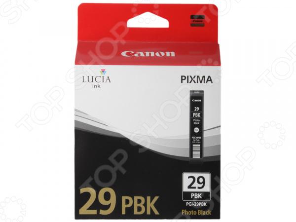 Картридж Canon PGI-29PBK фотокартридж canon pgi 29pbk для pro 1 чёрный 111 страниц
