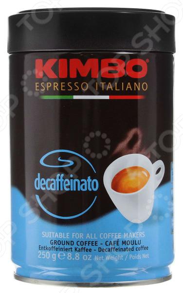 Кофе молотый в жестяной банке Kimbo Decaffeinato