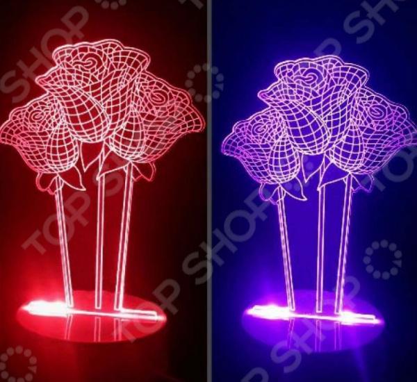 Светильник 3D «Розы»
