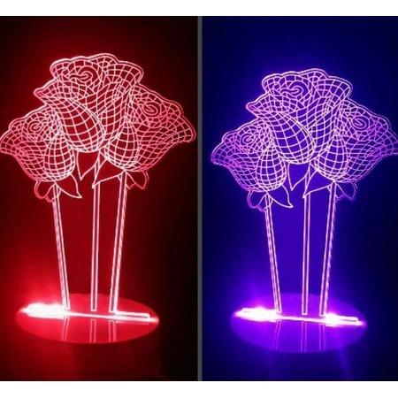 Купить Светильник 3D «Розы»