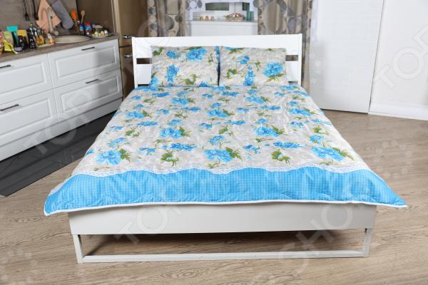 Одеяло «Дачное. Синие пионы»
