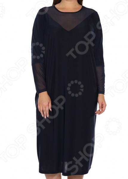 Платье «Лаурель». Цвет: темно-синий платье футболка женское deha из трикотажного хлопка