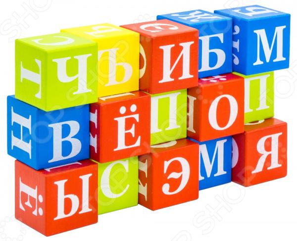 Кубики развивающие Alatoys «Азбука» КБА1501 развивающие деревянные игрушки кубики животные