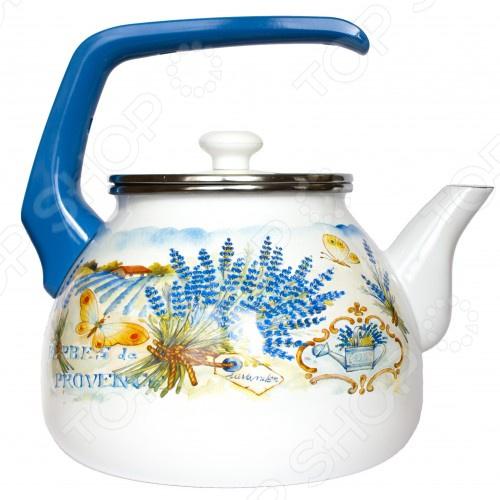 все цены на Чайник эмалированный Interos 15248 «Лаванда» онлайн