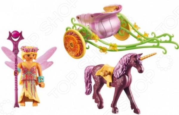 Zakazat.ru: Игровой набор Playmobil «Феи: Расписанный Единорогами сказочный экипаж»