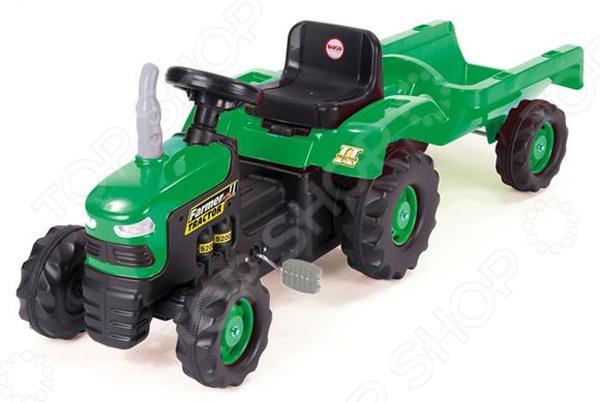 Машина-каталка педальная Dolu «Трактор с прицепом»