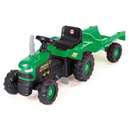Купить Машина-каталка педальная Dolu «Трактор с прицепом»